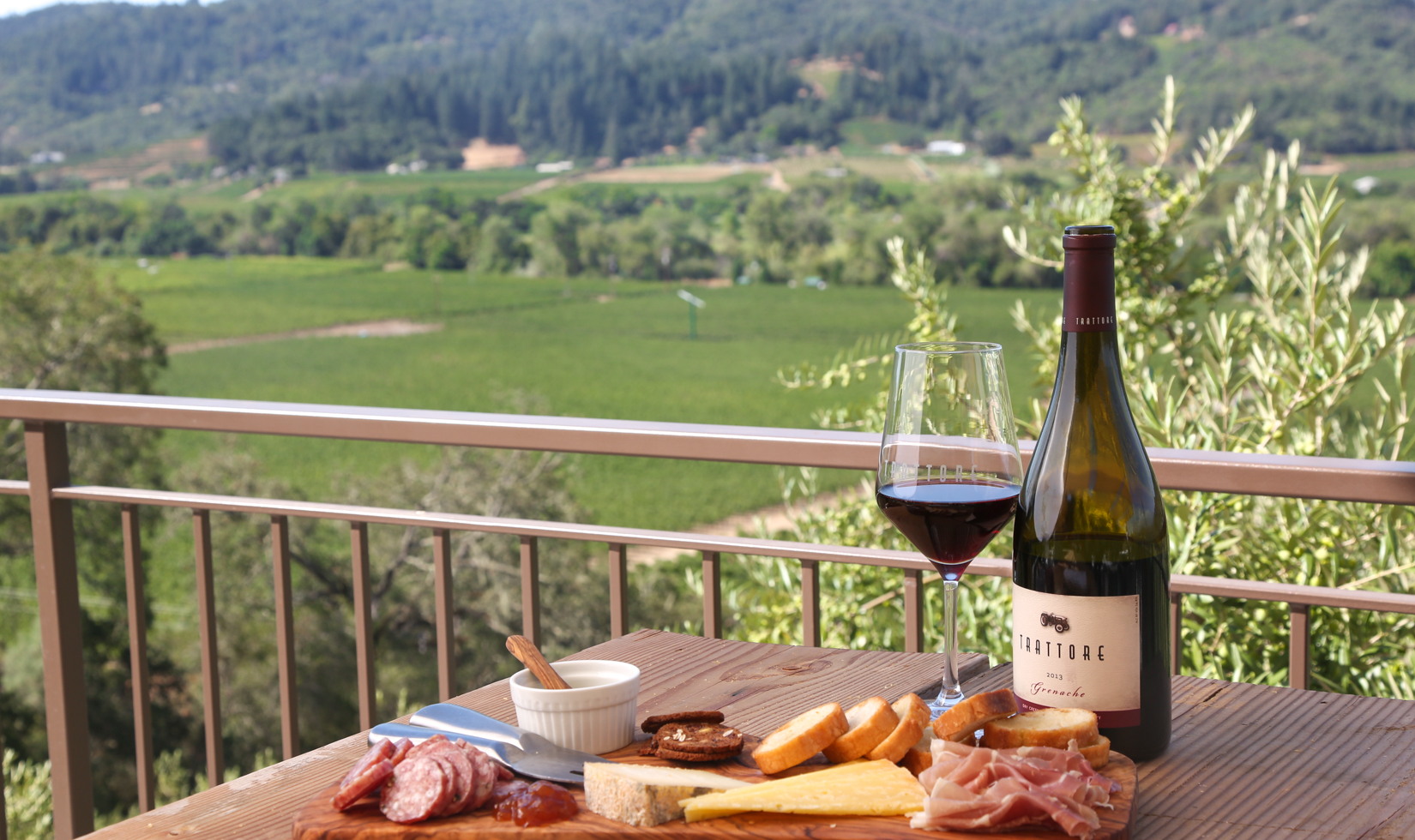 Trattore Farms Charcuterie Board Wine Tasting